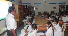 Information Literacy session at Library KV Pattom