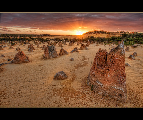 thepinnacles sunset limestone yellowsand sky clouds bestevercompetitiongroup australia westernaustralia