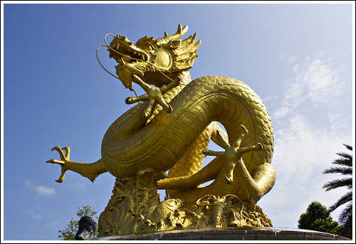Dragon Statue on Thalang Road in Phuket Town