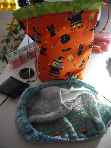 Halloween WIP bag!