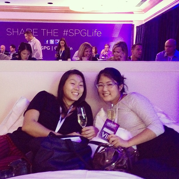 "Ladies enjoying their ""seats"" for the Ben Folds concert at Westin NYC #spglife"