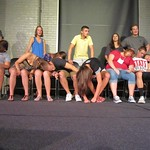 TOLs get to act as security on stage for the hypnotist show. --