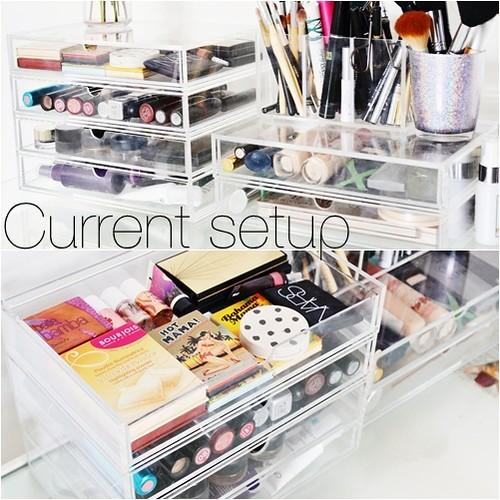 Muji makeup storage