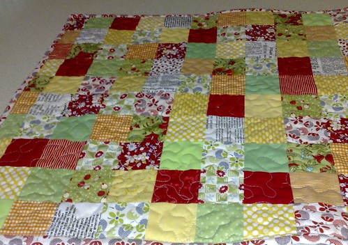 Bright Little Quilt by Blue Wren Stitching