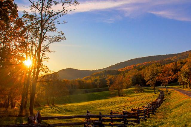 Sunset at Grayson Highlands State Park