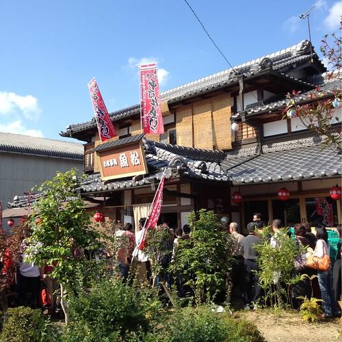 信楽 魚松で 近江牛と松茸のスキヤキ by haruhiko_iyota