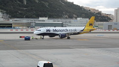 Monarch plane at Gibraltar Airport
