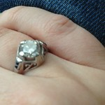 engagement ring from Hubbs via Good Old Gold in Massapequa