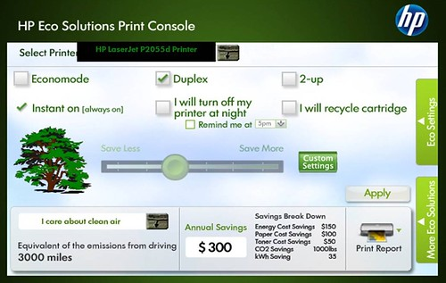 HP Eco Solution