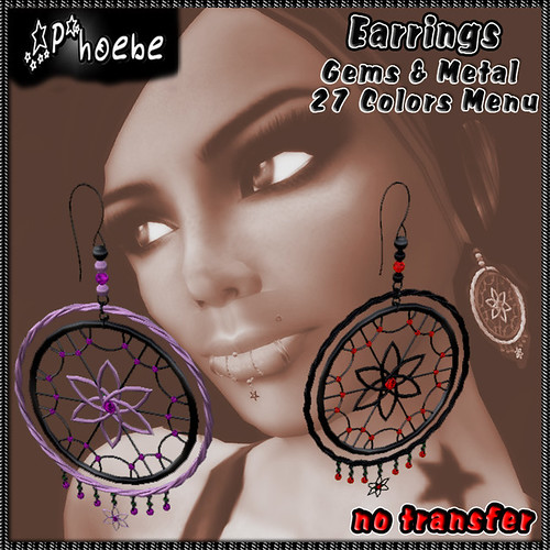 *P* Dreams Earrings