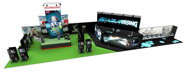 Stand Konami à la Paris Games Week 2012 en 3D