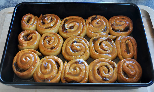 Sticky Buns with Dry Sherry Caramel