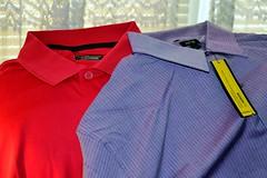 jacket(0.0), pink(0.0), pattern(1.0), clothing(1.0), collar(1.0), dress shirt(1.0), sleeve(1.0), outerwear(1.0),