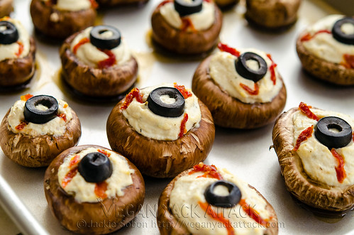 Stuffed Mushroom Eyeballs | Halloween Appetizers That Are Dreadfully Inviting | Homemade Recipes