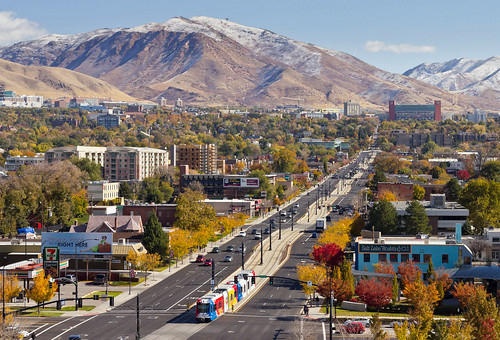 city autumn usa fall landscape utah ut downtown stadium saltlakecity slc lightrail 2012 trax 4thsouth saltlakecounty 400south
