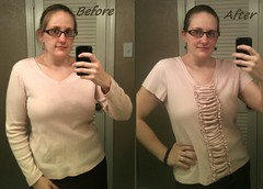 Ruched Shirt Before & After