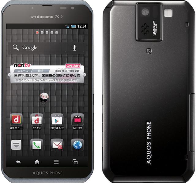 AQUOS PHONE sv SH-10D 実物大の製品画像