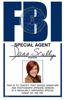 Amy as Dana Scully - Halloween 2012
