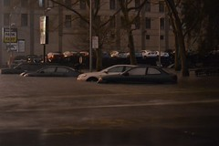 Cars flooded in Chinatown