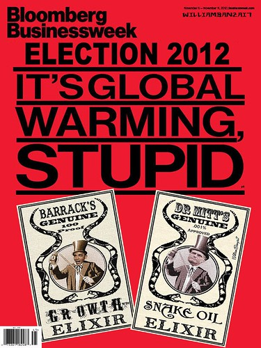BLOOMBERG BUSINESS WEEK GLOBAL WARMING COVER by Colonel Flick
