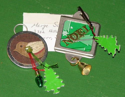 Ink Stains Altered Christmas Charm Swap 003