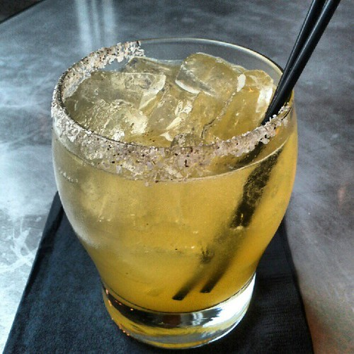 New cocktail at Metrovino: Margarita flavored with Sri Lankan curry and honey, cumin-salt rim.