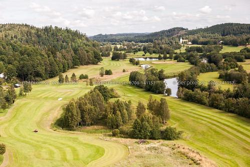 sverige swe västragötaland golfbana klev flygfoto mårdaklev