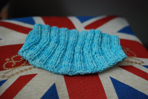 Bowmont British breed wool handknit hand-dyed headband