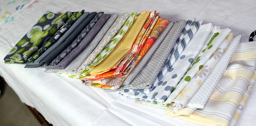 My fabric selection for the 'My Favorite Block Quilt Along'