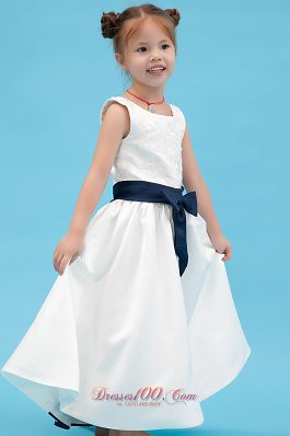 pure little girl pageant dress with sash