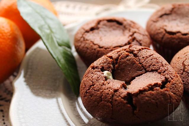 Moelleux au chocolat cœur crème de pistache