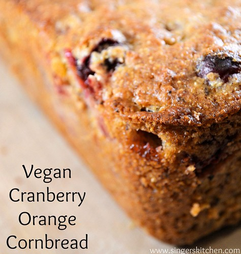 Vegan Cranberry Orange Cornbread 2