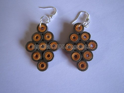 Handmade Jewelry - Paper Quilling Diamond Earrings (1) by fah2305