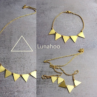 bracelet and necklace triangle collection lunahoo