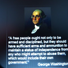 gun control attributed to george washington