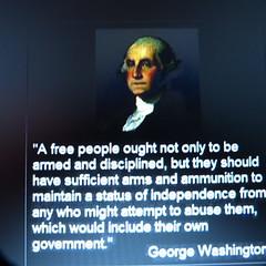 gun control attributed to george washington