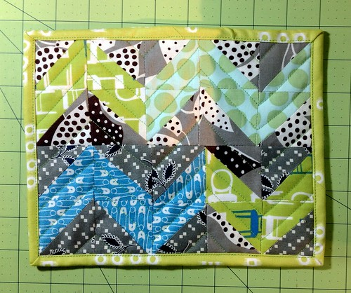 "Project Quilting:  challenge 2 ""Chevy green"""