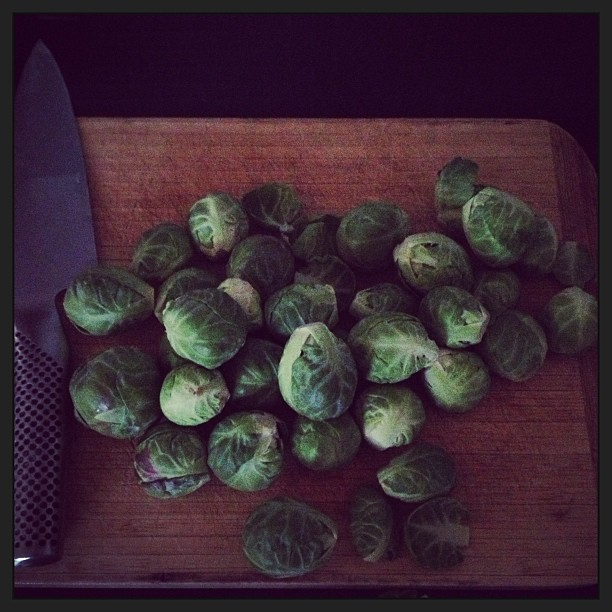 Can't get enough of brussel sprouts lately.