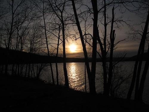winter lake water sunrise canon pond powershot g12 smack53