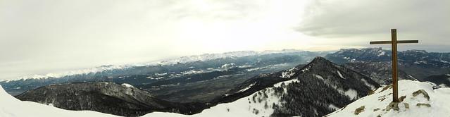 Panorama au sommet de la Galoppaz