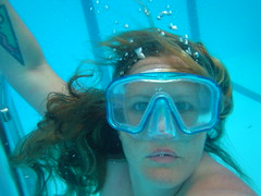 Goddess KRING nude swim
