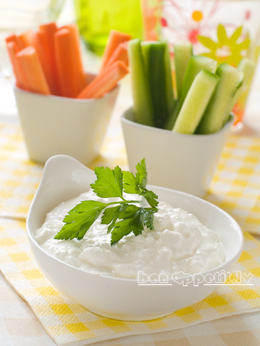 vegetables with dip by Viktorija_k