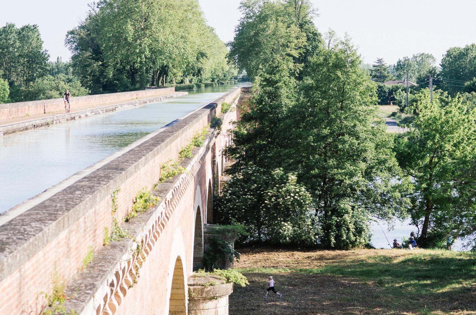 Sur le pont canal du Cacor - Carnet de voyage Tarn-et-Garonne