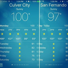 What a scorcher! It's not every day that Culver City and the beach areas are hotter than the San Fernando Valley 🔥 (for my euro friends, that's 38C)