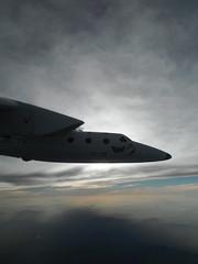 WhiteKnightTwo during her 100th test flight. Photo by Scott Glaser