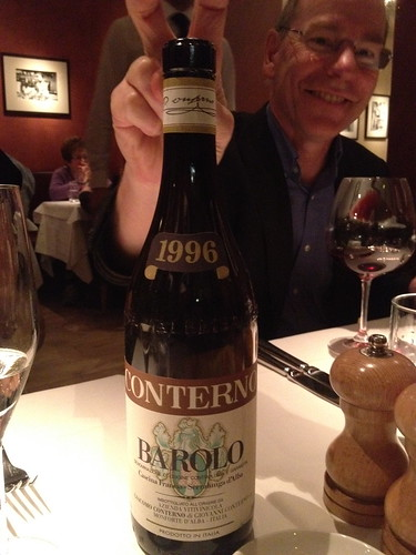 60th birthday meal - barolo 1996