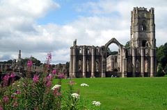 The Abbey Church from the east, Fountains Abbey, North Yorkshire