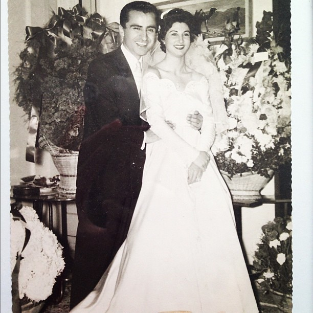 My grandmother on her wedding day #memories #beautiful @kyazdi