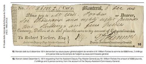 1814 Warrant Montreal