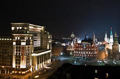 Vue sur la Place du Manège et la Place Rouge depuis la terrasse O² Lounge du Ritz Carlton Hotel